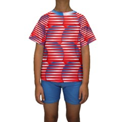 Patriotic  Kids  Short Sleeve Swimwear