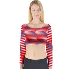 Patriotic  Long Sleeve Crop Top