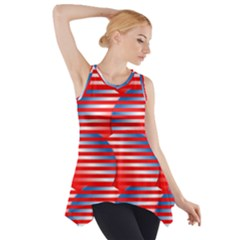 Patriotic  Side Drop Tank Tunic