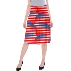 Patriotic  Midi Beach Skirt
