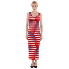 Patriotic  Fitted Maxi Dress