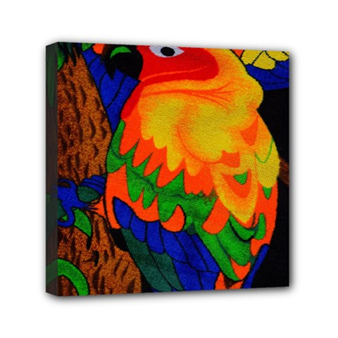 Parakeet Colorful Bird Animal Mini Canvas 6  X 6