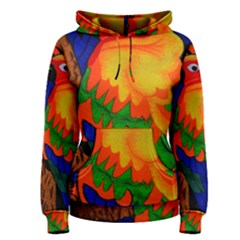Parakeet Colorful Bird Animal Women s Pullover Hoodie
