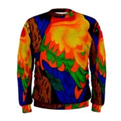 Parakeet Colorful Bird Animal Men s Sweatshirt
