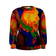 Parakeet Colorful Bird Animal Women s Sweatshirt