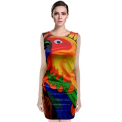 Parakeet Colorful Bird Animal Classic Sleeveless Midi Dress