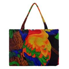 Parakeet Colorful Bird Animal Medium Tote Bag