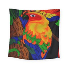 Parakeet Colorful Bird Animal Square Tapestry (small)