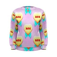 Pastel Heart Women s Sweatshirt