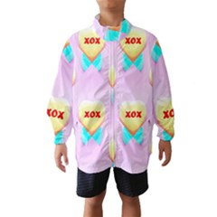 Pastel Heart Wind Breaker (Kids)