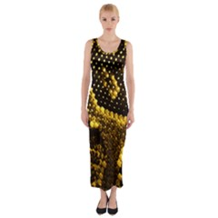 Pattern Skins Snakes Fitted Maxi Dress