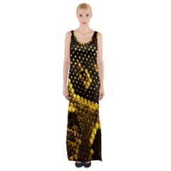 Pattern Skins Snakes Maxi Thigh Split Dress