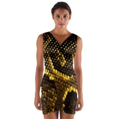 Pattern Skins Snakes Wrap Front Bodycon Dress