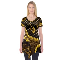 Pattern Skins Snakes Short Sleeve Tunic