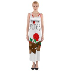 Valentine s day gift Fitted Maxi Dress