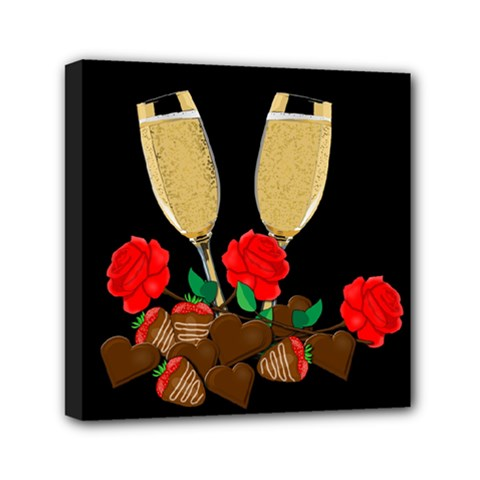 Valentine s day design Mini Canvas 6  x 6
