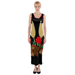 Valentine s day design Fitted Maxi Dress