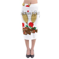 Valentine s day romantic design Midi Pencil Skirt