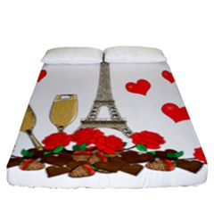 Romance In Paris Fitted Sheet (california King Size)