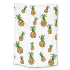 Pineapples Pattern Large Tapestry