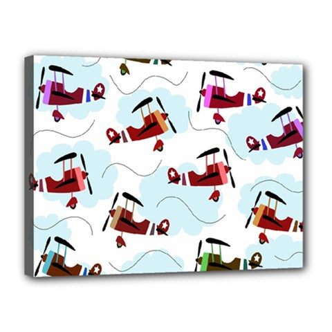Airplanes pattern Canvas 16  x 12