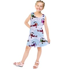 Airplanes pattern Kids  Tunic Dress