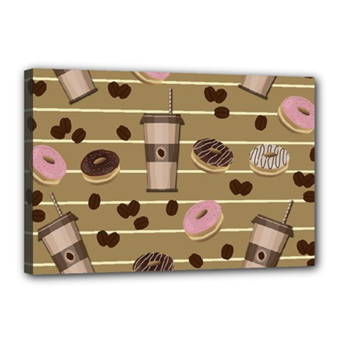 Coffee and donuts  Canvas 18  x 12