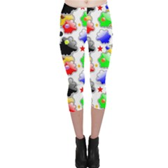 Pattern Background Wallpaper Design Capri Leggings