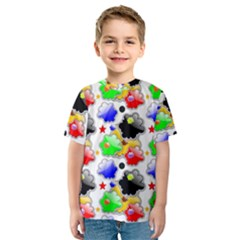 Pattern Background Wallpaper Design Kids  Sport Mesh Tee