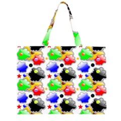 Pattern Background Wallpaper Design Large Tote Bag