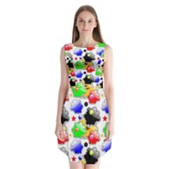 Pattern Background Wallpaper Design Sleeveless Chiffon Dress