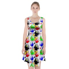Pattern Background Wallpaper Design Racerback Midi Dress