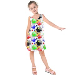 Pattern Background Wallpaper Design Kids  Sleeveless Dress