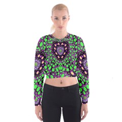 Dots And Very Hearty Women s Cropped Sweatshirt