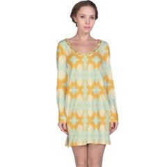 Sun Burst Long Sleeve Nightdress