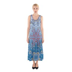 Pattern Background Pattern Tile Sleeveless Maxi Dress