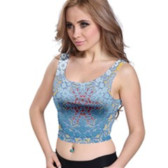 Pattern Background Pattern Tile Crop Top