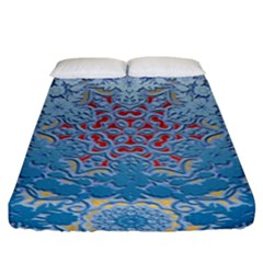 Pattern Background Pattern Tile Fitted Sheet (king Size)