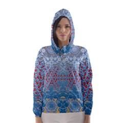 Pattern Background Pattern Tile Hooded Wind Breaker (women)