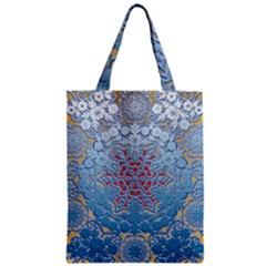 Pattern Background Pattern Tile Zipper Classic Tote Bag