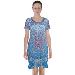 Pattern Background Pattern Tile Short Sleeve Nightdress