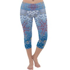 Pattern Background Pattern Tile Capri Yoga Leggings