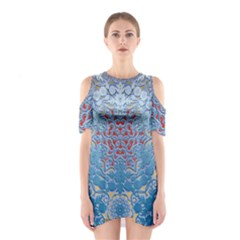 Pattern Background Pattern Tile Shoulder Cutout One Piece