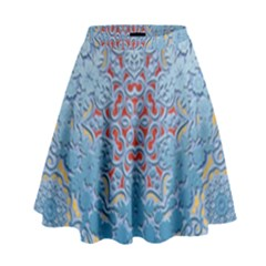 Pattern Background Pattern Tile High Waist Skirt