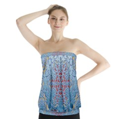 Pattern Background Pattern Tile Strapless Top