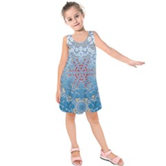 Pattern Background Pattern Tile Kids  Sleeveless Dress