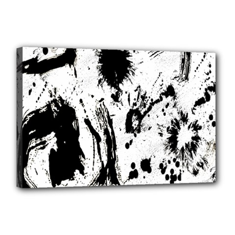 Pattern Color Painting Dab Black Canvas 18  X 12