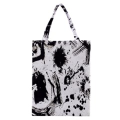 Pattern Color Painting Dab Black Classic Tote Bag