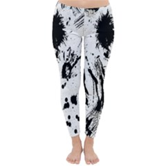 Pattern Color Painting Dab Black Classic Winter Leggings
