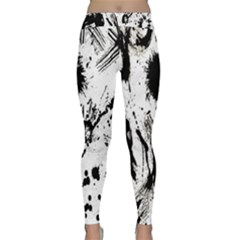 Pattern Color Painting Dab Black Classic Yoga Leggings